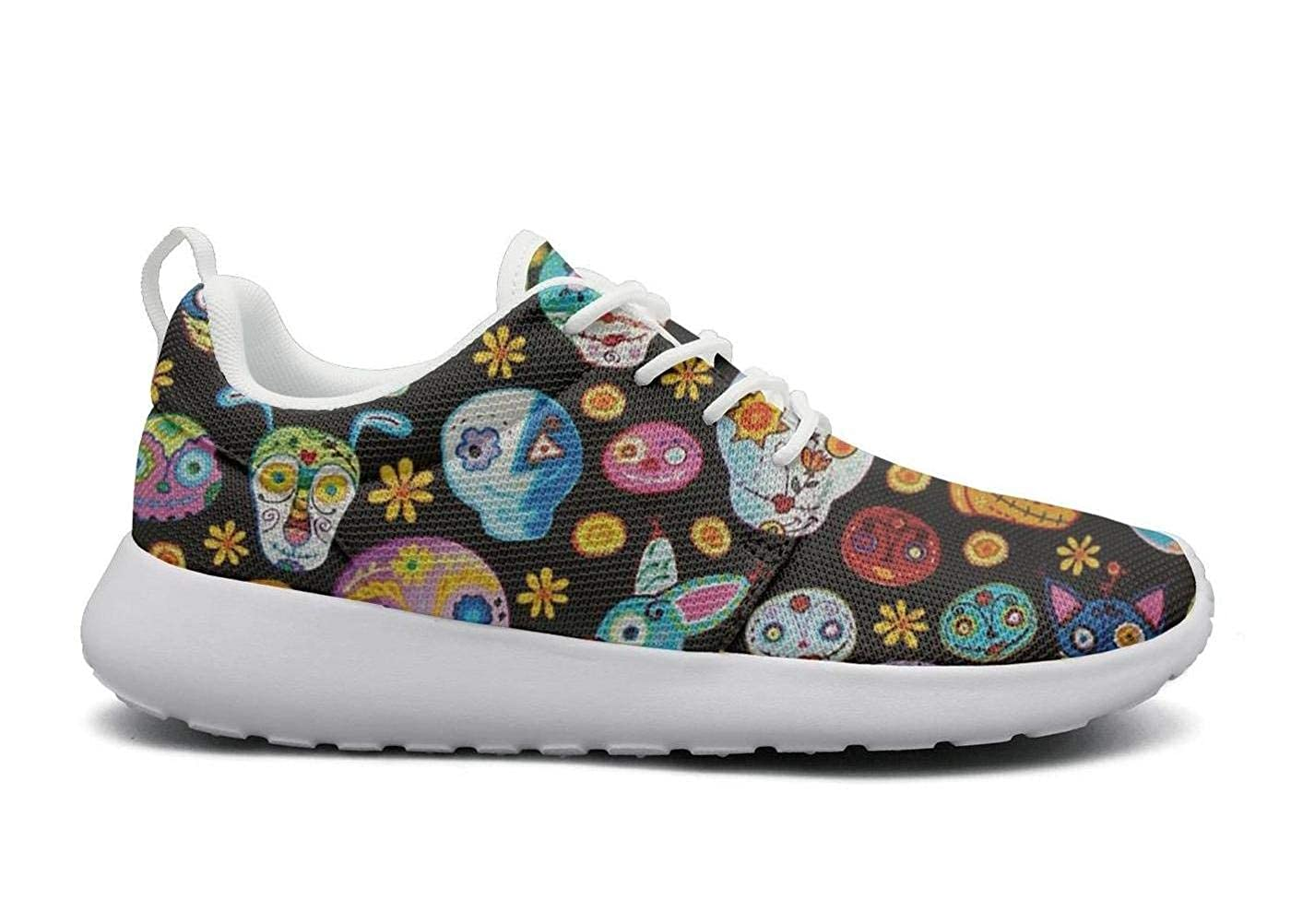 Sugar skull Sugar Dog Sugar Cat Womens lightweight Athelitic Running shoes lace-up breathable fitness sneakers