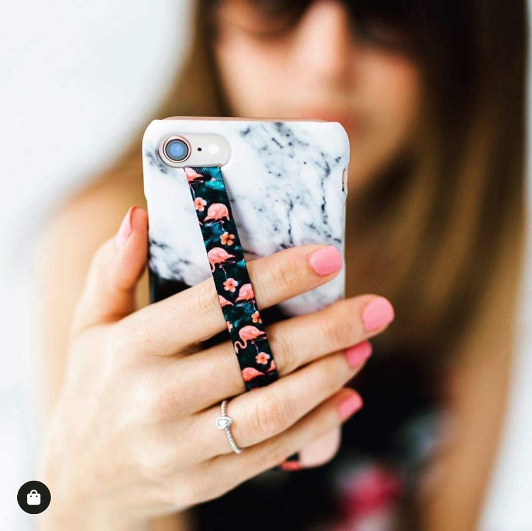 Phone Loops Phone Grip Finger Strap Accessory for Mobile Cell Phone Floral