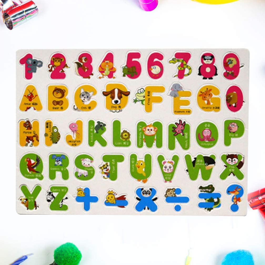 Magnet Alphabet Animal Number Early Educational Kids Baby Toy