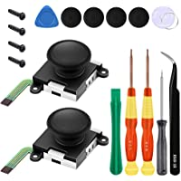 2-Pack Analog 3D Joy-Con Joystick Replacement for Nintendo Switch Joy-Con Controller, Full Repair Set