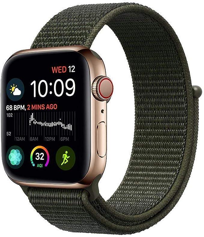 ZONEYILA para Correa Apple Watch 40mm 44mm Series 4, Suave Nylon iWatch 38MM 42MM Correa, para Series 3, Series 2, Series 1: Amazon.es: Electrónica