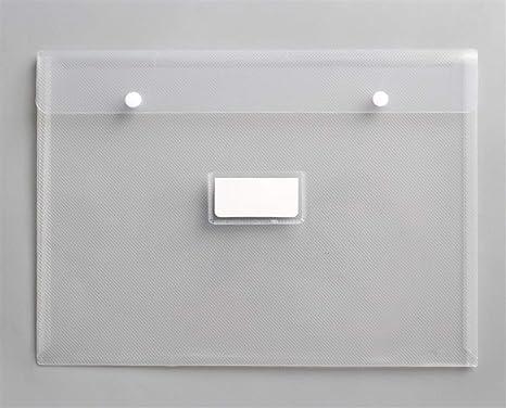 Useful Business School A4 Botones Bolso Transparente Carteras documento Bolsa (Blanco) Ari_Mao