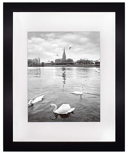 amazon com golden state art 11x14 black photo frame wood real