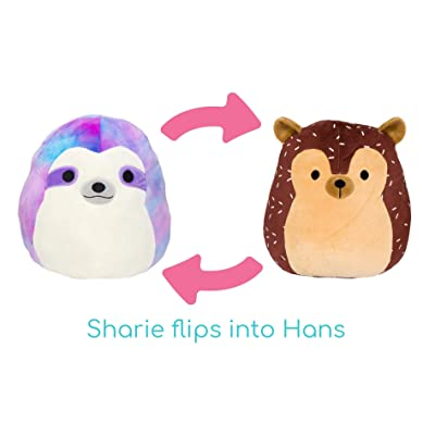"Squishmallow 2020 Flip-A-Mallows Mini 5"" Plush Toy (5"" Sloth Flipped Into Hans The Hedgehog): Toys & Games"