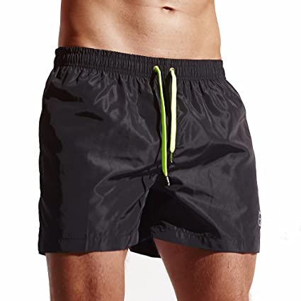 e70c0ad4b6 WuyiMC Men's Shorts Swim Trunks Quick Dry Beach Shorts for Surfing Running  Swimming Watershort with Pockets