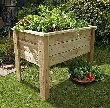 1m Wooden Pressure Treated Raised Trough Garden Vegetable