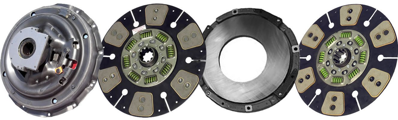 Two-Plate, 6-Round // 8-Spring, 2800 Plate Load // 900 Torque IATCO 107137-8-IAT 14 x 1-3//4 Stamped Steel Clutch