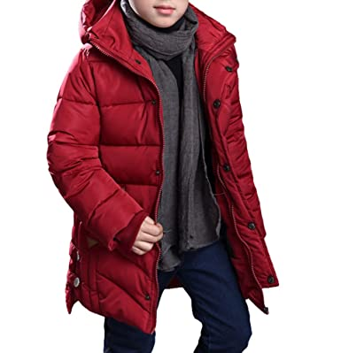 klassischer Stil von 2019 marktfähig 60% Rabatt MILEEO Jungen Mantel Jacket Parka Kinder Jungen Mantel Winter Baumwolle  Kindermantel Langarm Outwear Wintermantel mit Kapuze Winterjacke Steppjcake  ...