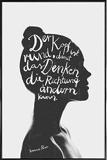 Kunstdruck Poster Mit Spruch Egal Wie Voll Dein Kopf Ist