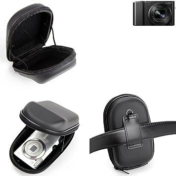 para Panasonic Lumix DMC-TZ101: Caso duro, estuche para cámara compacta, bolsa / funda rígida con espacio para jaulas de memoria, batería de repuesto, cargador de jaula, etc. | prueba del choque: Amazon.es: