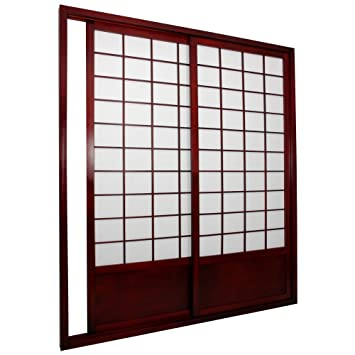 Amazoncom Oriental Furniture Shoji Double Sided Sliding Door Kit