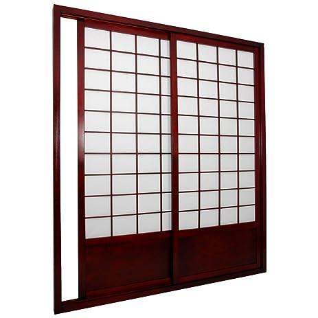 Shoji screen closet doors steps cherry tree design shoji for Idea door yw