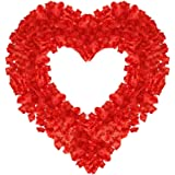1000 PCS Dark Silk Rose Petals Wedding Flower Decoration Artificial Red Rose Flower Petals for Wedding Party Favors…
