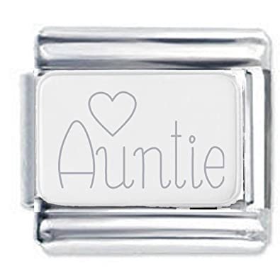 Niece Heart Engraved Charm in Silver Plate finish - fits Nomination Classic JR2Zh
