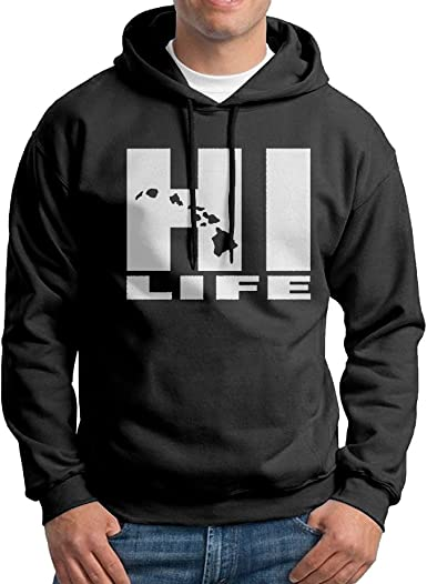 Hawaii Hi Life Beautiful Art Men Sweatshirt Black