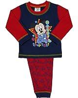 Disney Baby Boys Kids Mickey Mouse Snuggle Fit Long Length Pajamas