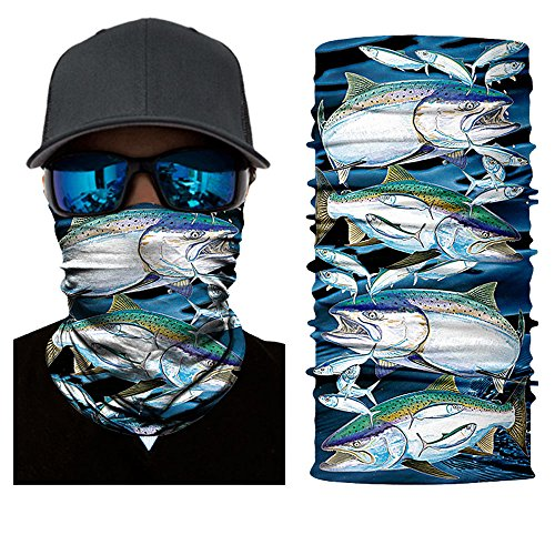 12-in-1 Miraculous Scarf,deep fishing mask,Seamless Bandana, Face Mask,fishing mask, Thin Ski Mask, Neck Warmer Balaclava Bandana for Raves, Dust, Riding Bike, Motorcycle, Out of doors Activities (blue)