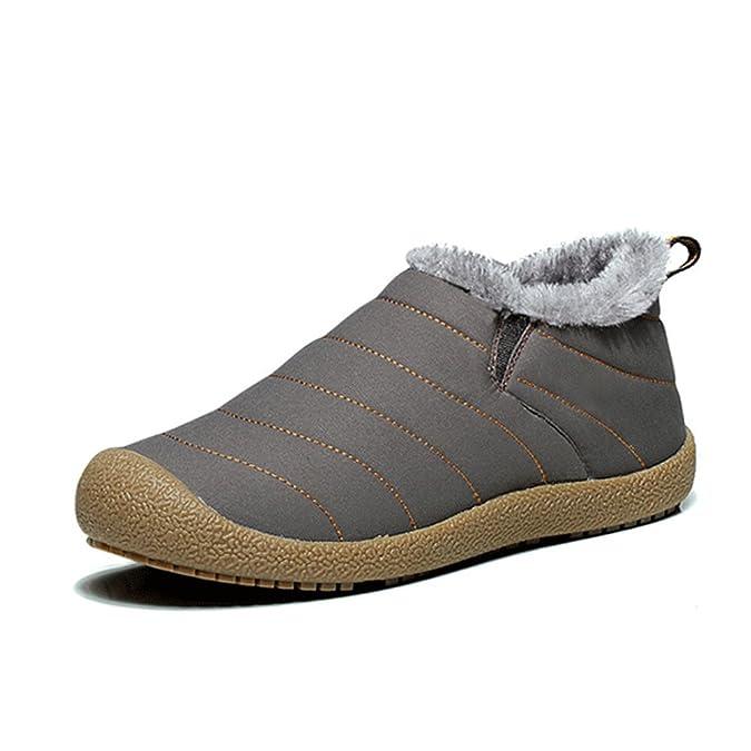 Phefee Hombre Mujer Zapatos Otoño Invierno Botas de Nieve Senderismo ...