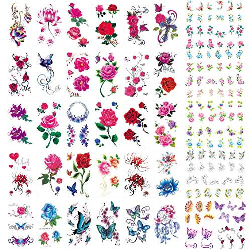 30 Sheets Temporary Tattoos Stickers Waterproof Body Art