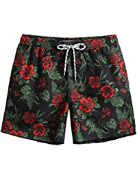 Mens Slim Fit Quick Dry Short Swim Trunks with Mesh Lining