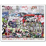 J.P. London POSLT2200 uStrip Lite Removable Wall Decal Sticker Mural Nero Graffiti Concrete Wall Obscenity Free, 24-Inch X 19.75-Inch