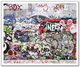 JP London POSLT2200 uStrip Lite Removable Wall Decal Sticker Mural Nero Grafitti Concrete Wall Obscenity Free, 24-Inch x 19.75-Inch