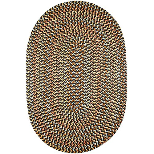 - Super Area Rugs Confetti Braided Rug Traditional Rug Textured Durable Brown Casual Decor Carpet, 5' X 8' Oval