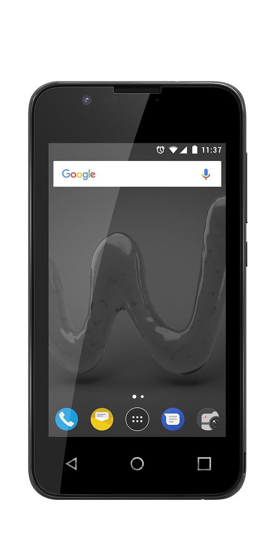 """Wiko Sunny2 - Smartphone compacto de 4"""" (Dual SIM, Quad Core 1,2 GHz, memoria interna de 8 GB ampliable con micro SD en 32 GB más, diseño metálico) Gris (Space Grey)"""