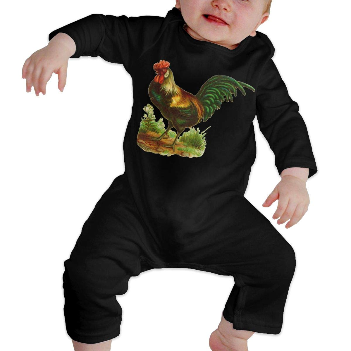 Novelty Rooster Chicken Newborn Baby Boy Girl Romper Jumpsuit Long Sleeve Bodysuit Overalls Outfits Clothes