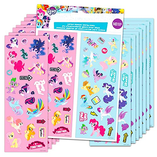 Rainbow Dash Party Supplies (My Little Pony Stickers Party Favors 16 Sheets Over 380 Stickers plus 2 Separately Licensed Reward Stickers - MLP favorites include Rainbow Dash, Twilight Sparkle, Pinkie Pie, Rarity, and)