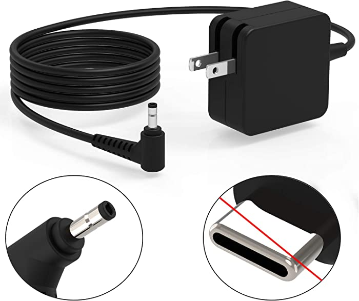 65W 45W 7.5Ft Wall Charger Fit for Lenovo Yoga 720-12 710 720 720S 720-12IKB 720-121KB 710-11 710-14 710-15 720S-14 720S-14IKB IdeaPad 2 in 1 Tablet Laptop Power Supply AC Adapter Cord UL Listed