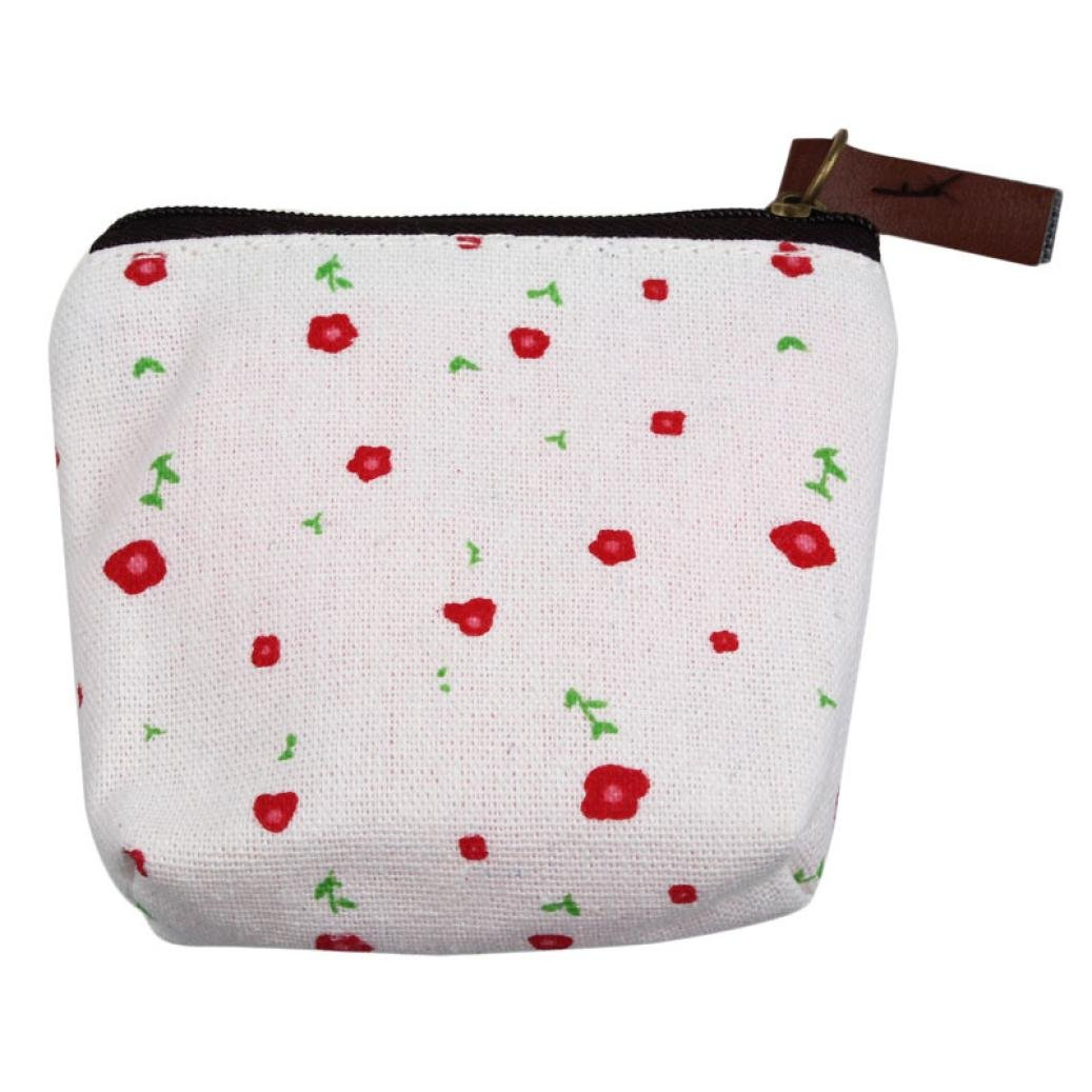 GBSELL New Small Canvas Purse Zip Wallet Lady Coin Case Bag Handbag Key Holder