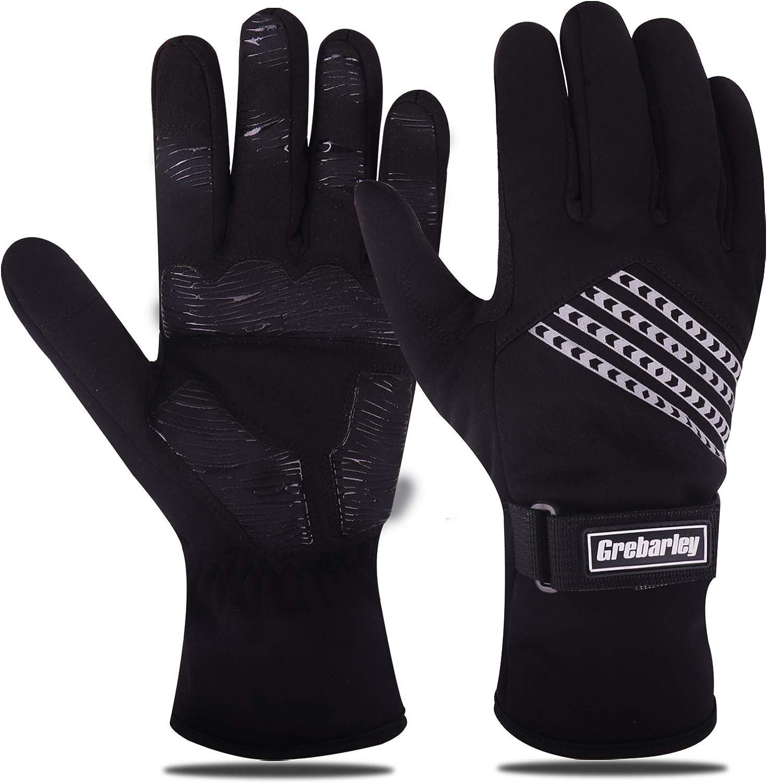 Grebarley Winter Gloves Waterproof Gloves Cycling Gloves Bike Gloves Biking Gloves Driving Gloves Riding Gloves Touchscreen Gloves Snow Gloves Ski Gloves Bicycle Gloves for Men Women