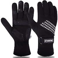 Grebarley Fietshandschoenen, antislip MTB-handschoenen met schokdempend pad, warme winterhandschoenen voor skiën…