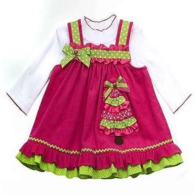 rare editions girl christmas dress christmas tree pink pink 7 years