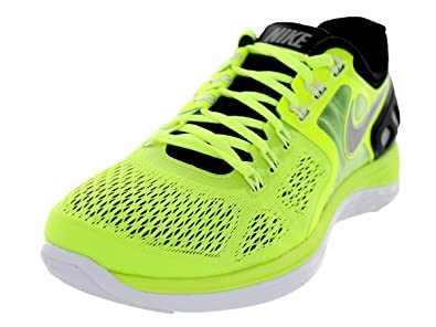 Nike Men's Lunareclipse 4 Volt/Reflect Silver/Blk/White Running Shoe 8 Men