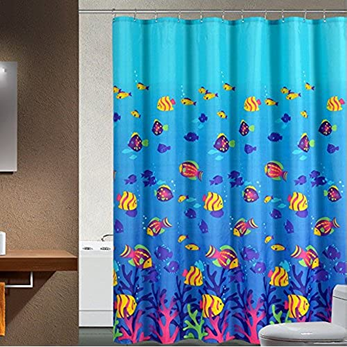 Sea Kitchen Curtains Amazon: Fish Shower Curtains: Amazon.com