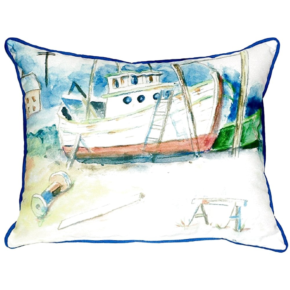 Betsy Drake SN698 Old Boat Small Indoor/Outdoor Pillow 11' x14'