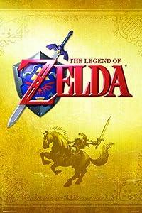 Pyramid America The Legend of Zelda Gold Nintendo Fantasy Video Game Series Link Epona Sword Shield Cool Wall Decor Art Print Poster 24x36