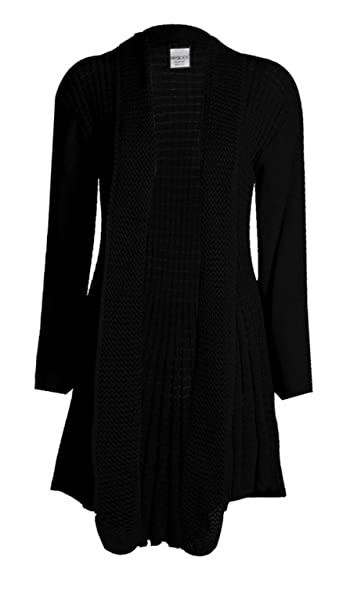 Cima Mode Womens Plus Size Plain Crochet Knitted Waterfall ...