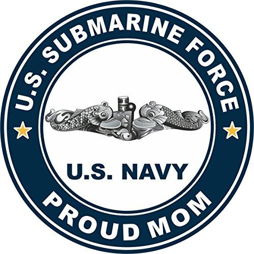 Magnet US Navy US Submarine Force Proud Mom Silver Dolphins Military Veteran Served Vinyl Magnet Car Fridge Locker Metal Decal 3.8
