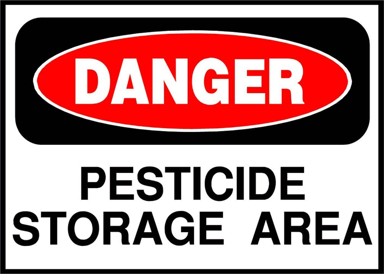 Pesticide Storage Area Danger OSHA / ANSI LABEL DECAL STICKER 10 inches x 7 inches