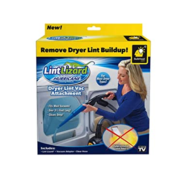 Hurricane Official As Seen On TV Lint Lizard Vacuum Hose Attachment by BulbHead, Removes Lint from Your Dryer Vent, Power Clean Behind Appliance (1 Pack)