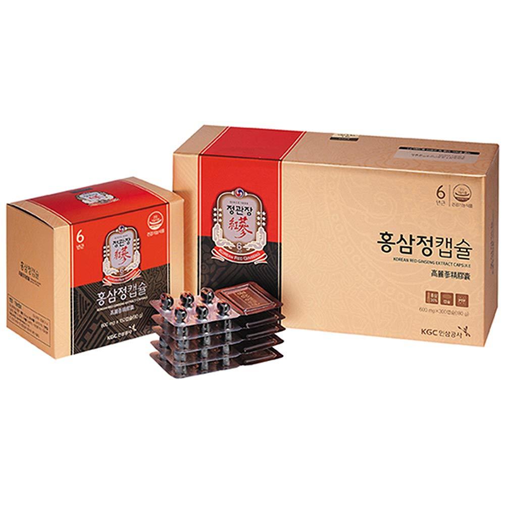 KGC Cheong Kwan Jang Korean Red Ginseng Extract Capsules (600 mg x 300 Capsules)