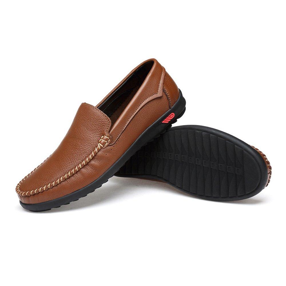 Hongjun-shoes, Conducción de los Hombres Penny Loafers Bare Vamp Casual Barco Low-Top Soft Rubber Sole Mocasines, Mocasines para Hombre 2018 (Color : Marrón, tamaño : 38 EU) 38 EU|Marrón