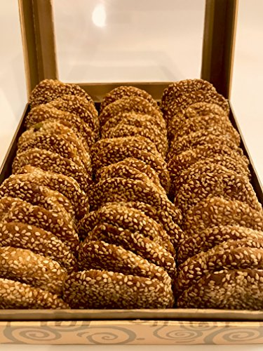 - Barazek Sesame Seed and Pistachio Cookies - 60 Pcs Signature Gift Box