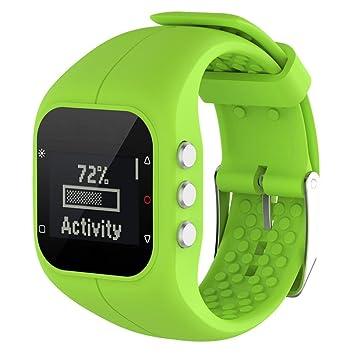 32d9bd6a0cb9 Malloom Reemplazo Suave Goma Silicona Reloj Correa Banda muñeca para Polar  A300 Fitness Watch
