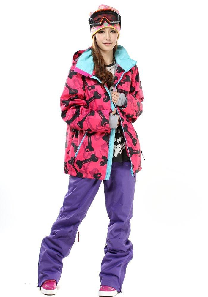 Storm スノーボード スキーウェア 上下セット ユニセックス【PNK-BONE×パンツ全6色】デニム レディースパンツ 3XL B00HLHDJ76  104 PNK-BONE&PPL S(女L)