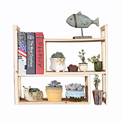 Solid Wood Retractable Flower Shelf Bookshelf Table Small Simple