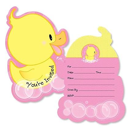 9ea58f2508e93 Con forma de rosa patitos – llenar invitaciones – Baby Shower o fiesta de  cumpleaños tarjetas